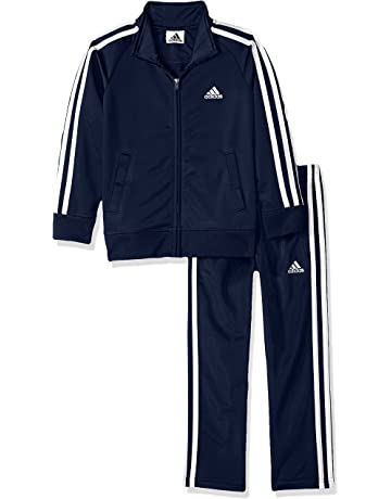1a12c44879 adidas Boys' Tricot Jacket & Pant Clothing Set
