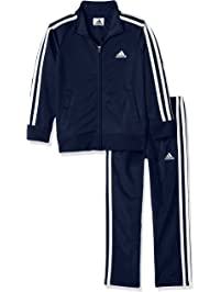 newest collection ce2b2 fdcb5 adidas Boys Tricot Jacket and Pant Set