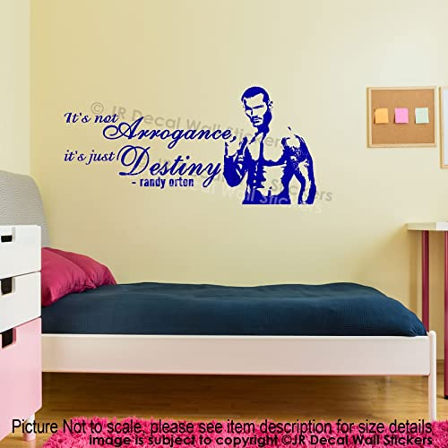 Randy Orton Quote Vinyl Wall Stickers WWE Wrestler Wall Decals Gym Sports Decor WWE Superstar Wall & Randy Orton Quote Vinyl Wall Stickers WWE Wrestler Wall Decals Gym ...