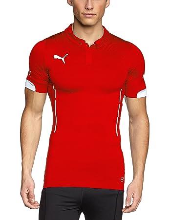 Puma Herren T-Shirt ACTV Short Sleeve, Red/White, S, 701905