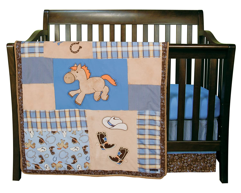 dp nursery crib sets for gloria baby peacock com pcs amazon set girls bedding the soho bed