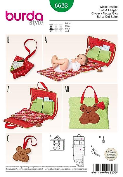 Burda Patrón 6623 Bolso para bebé: Amazon.es: Hogar