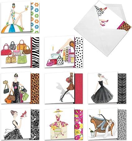Peace Love Shopping Shopoholic Note Cards Set of 8