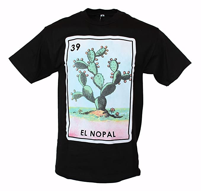 34707467e City Of Angels T Shirts El Nopal Loteria Mexican Lottery Men's Funny T Shirt  XX-