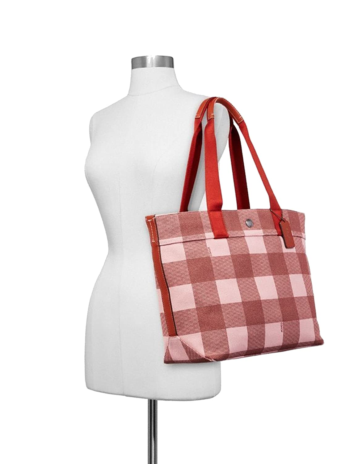 e5f1a19b06 Amazon.com: Coach F25919 Canvas Tote With Buffalo Plaid Print: Shoes