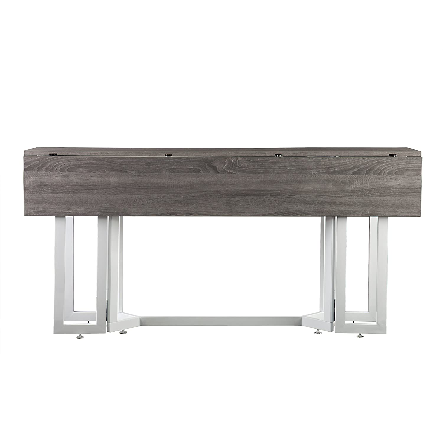 Amazon holly martin driness drop leaf console dining table amazon holly martin driness drop leaf console dining table weathered gray finish with white metal base tables geotapseo Images
