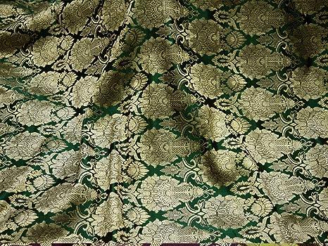 Tela de brocado verde artesanal para chaqueta, tela de ...