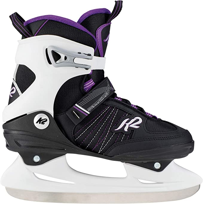 K2 Skate Women's Alexis Ice Skate, Black Lavendar, 4