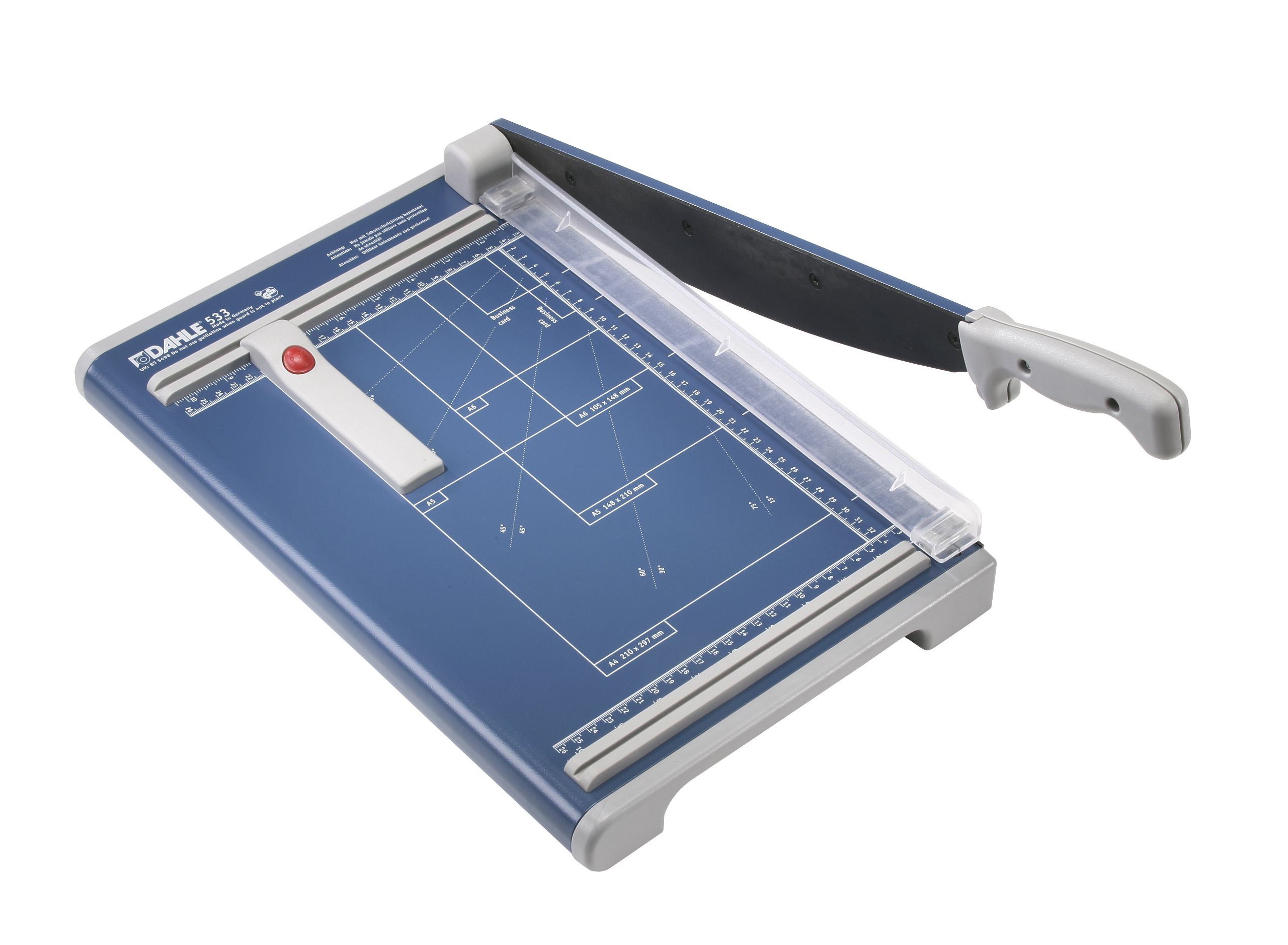 Dahle 533 Professional Guillotine Trimmer, 13-3/8'' Cut Length, 15 Sheet Capacity, Self-Sharpening, Manual Clamp, German Engineered Cutter by Dahle