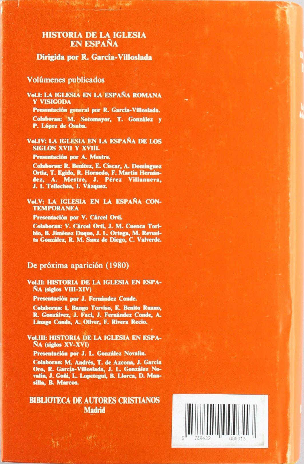 Historia de la Iglesia en España. IV: La Iglesia en la España de los siglos XVII-XVIII: 4 MAIOR: Amazon.es: García-Villoslada, Ricardo, Mestre Sanchís, Antonio: Libros