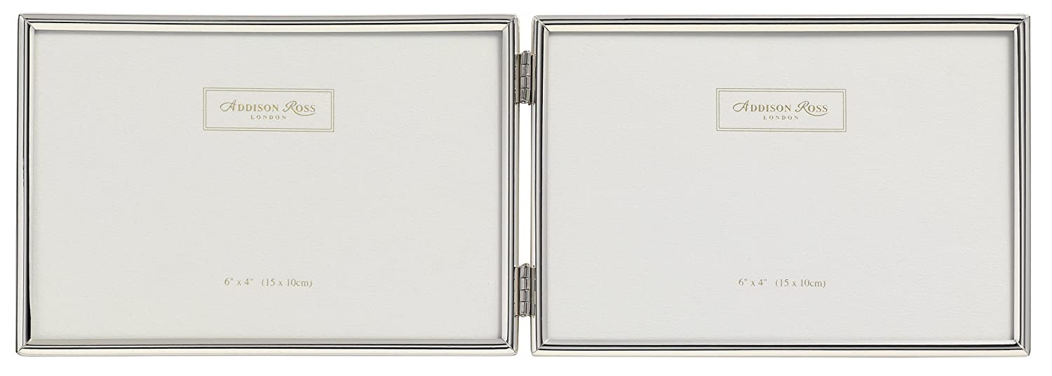 Amazon.com - Addison Ross, Essentials Photo Frame, Silver Plate Double Landscape, 4 x 6 Inches - Addison Ross Picture Frames