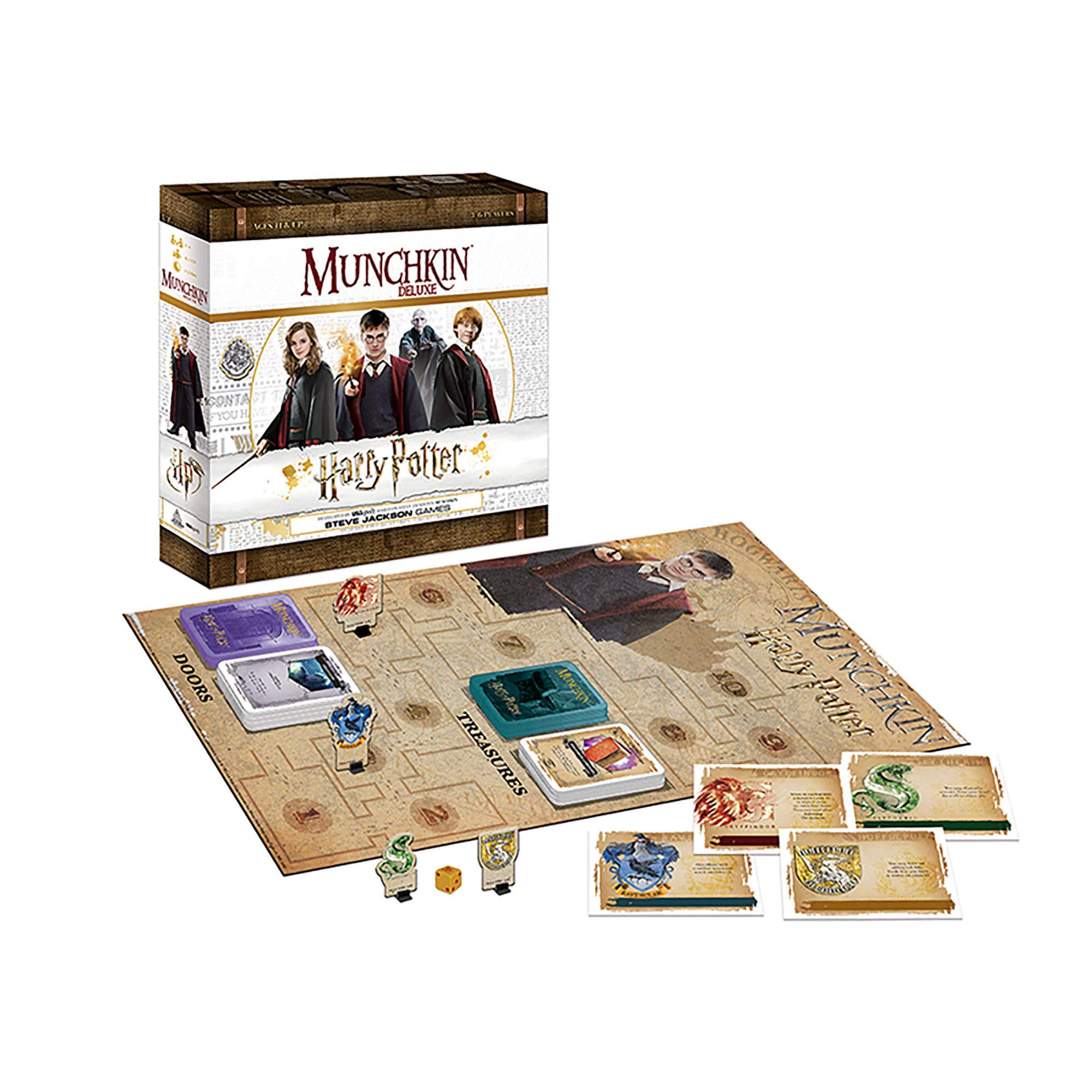 USAopoly Munchkin Deluxe: Harry Potter Card Game | Harry Potter Movie Board Game | Deluxe Munchkin Game