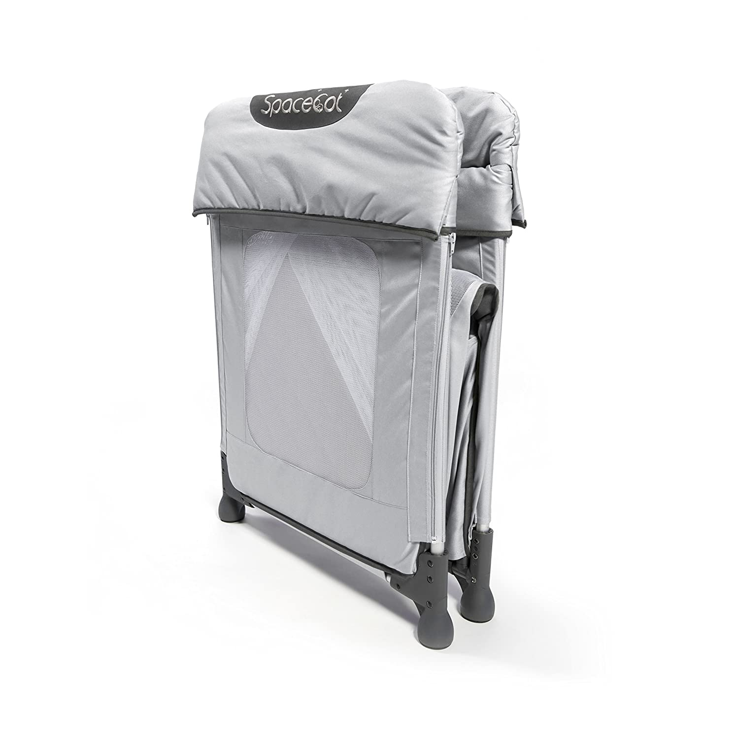 Easy Fold Baby//Toddler//Child Lightweight Travel Cot Silver Spacecot