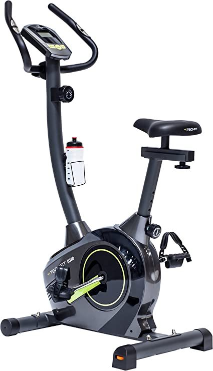 TechFit B380 Bicicleta estática de Ejercicio, Magnética, Máquina de Cardio de la Resistencia de la Pérdida de Peso con la Silla de Montar Ajustable, los Sensores del Pulso y el Monitor LCD: