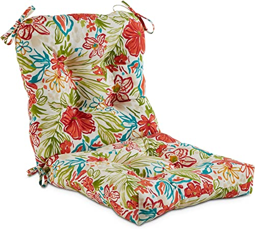 South Pine Porch AM5815-BREEZE Breeze Floral Outdoor Seat/Back Chair Cushion