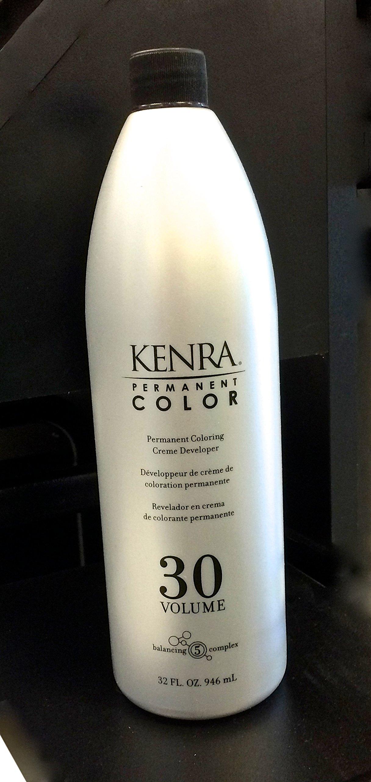 Kenra Permanent Color Creme Developer 30 Volume, 32 Fluid Ounce
