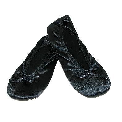 2de80e631df Isotoner Women s Satin Classic Ballerina Slippers (Pack of 2 ...