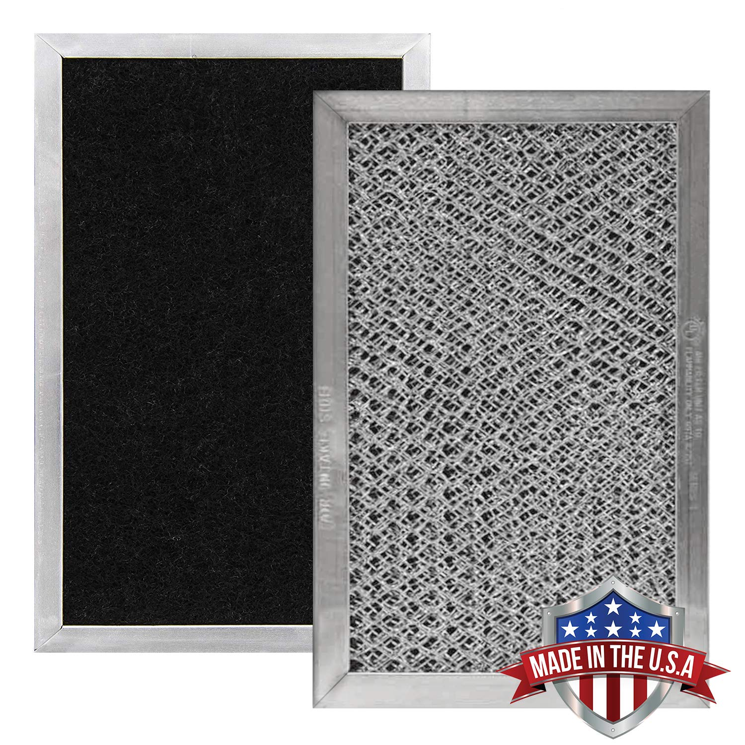 GE JX81C, WB02X10776, LG 5230W1A011B Microwave Recirculating Charcoal Filter (Made in USA) (2-Pack)