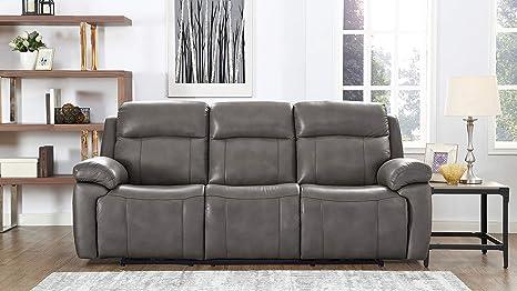 Amazon.com: Hydeline Riverside - Juego de sofá de piel ...