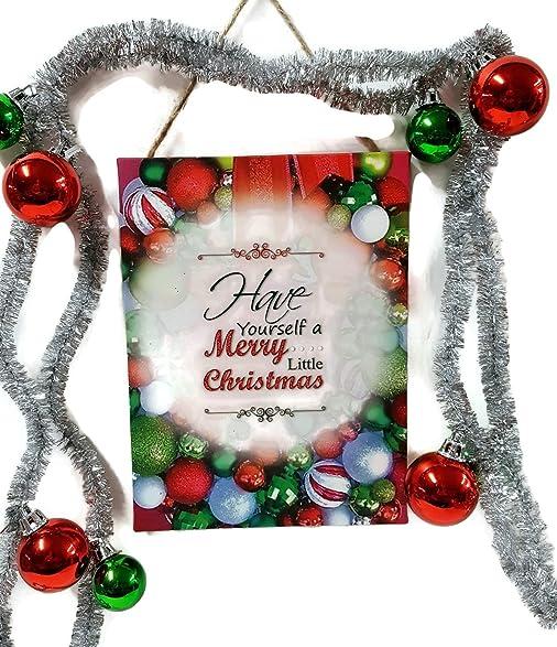 Amazon.com: Vintage Ornament Christmas Garland & Canvas Wall Art ...