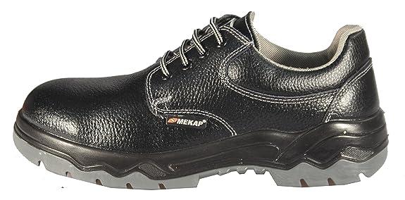 Mekap Loder MD-326R DE 01–Unisex Adultos & de Trabajo Zapatos de Seguridad S1–Sra Safety Shoes Footwear Barton Piel con Estructura, Color Negro, Talla 41
