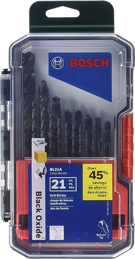 14 Piece Black Oxide Twist Drill Bit Set