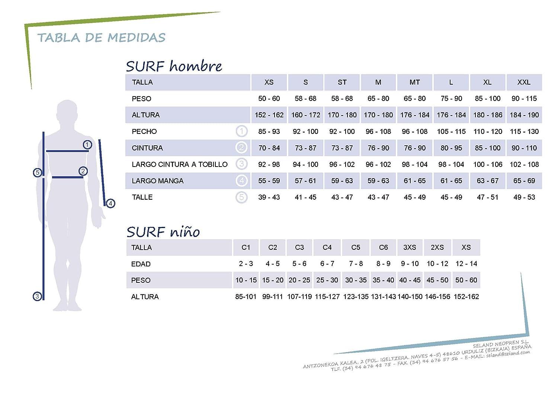 Seland SOMO Traje de Neopreno Surf. 3/2 mm. Rojo y Negro.: Amazon.es: Deportes y aire libre
