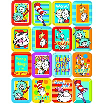 Eureka Dr. Seuss Lenticular Stickers: Office Products