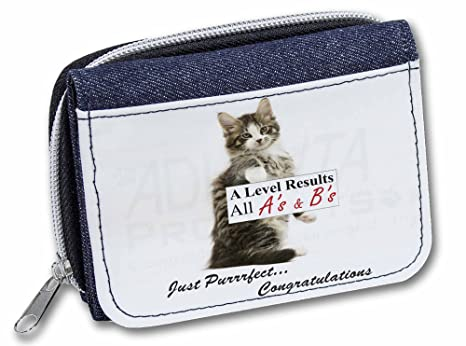 Advanta - Cartera Denim A Nivels Cat Felicitaciones Regalo Chicas/Mujer Monedero AC