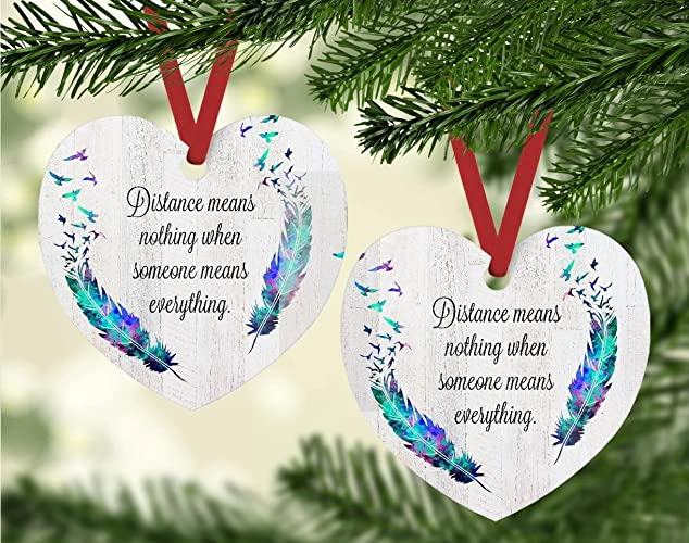 christmas ornament distance means nothing when someone means everything