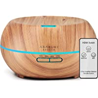 ASAKUKI Essential Oil Diffuser with Remote Control, 500ml Cool Mist Humidifier, 16 Hours Operation Aroma Diffuser with…