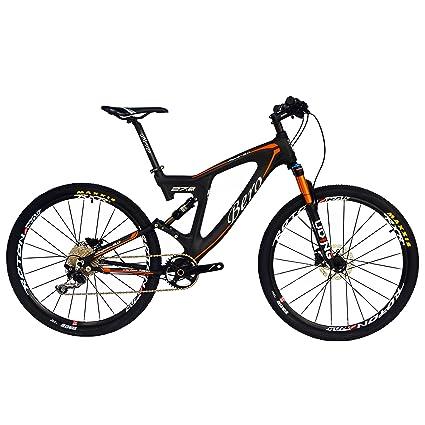 Dual Suspension Mountain Bike >> Amazon Com Beiou Carbon Dual Suspension Mountain Bicycles All
