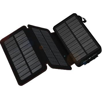 WBPINE Cargador Solar 24000mAh 3 Solar Panels Power Bank batería Solar Placa Batería Plegable para el Smart Phone