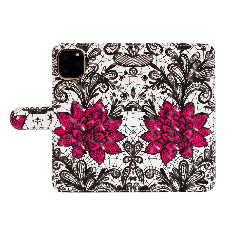 Herbests Kompatibel mit iPhone 11 Pro Max Handyh/ülle Leder H/ülle Bunt 3D Glitzer Bling Gl/änzend Leder Schutzh/ülle Flip Case Brieftasche Klapph/ülle Wallet Tasche,Lila Schmetterling