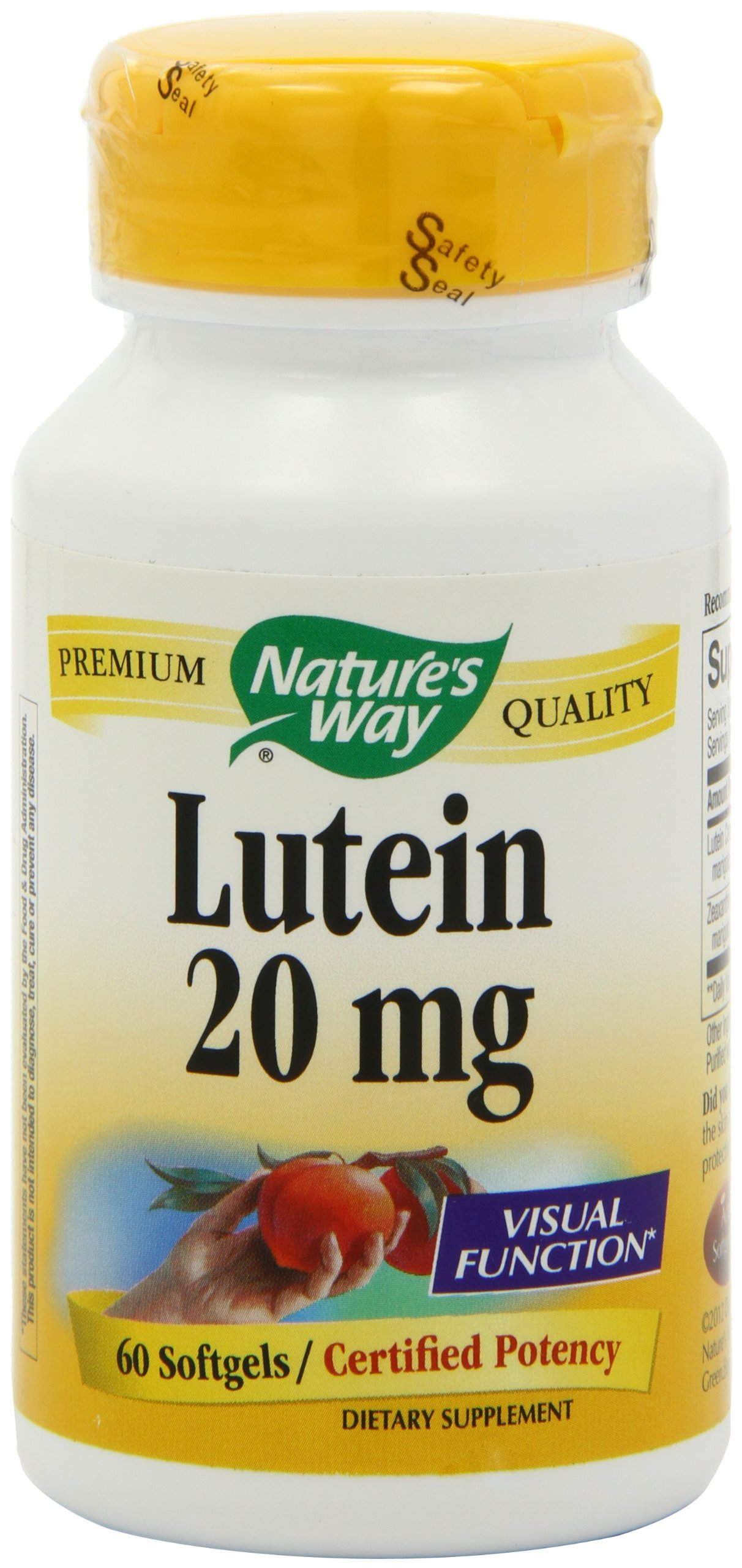 Lutein, 60 Softgels by Nature's Way (Pack of 6)