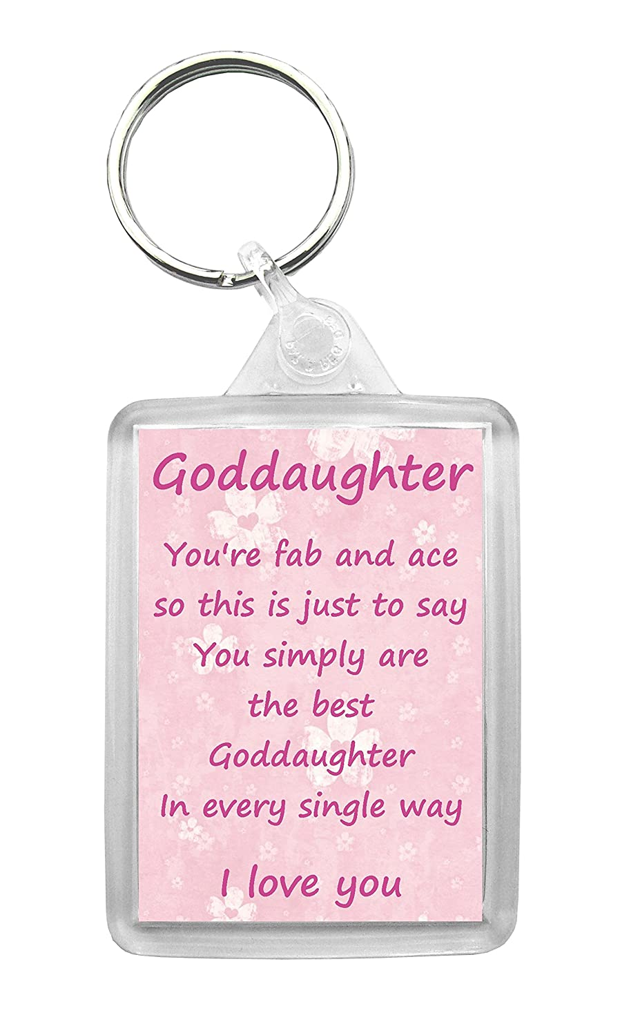 Goddaughter Keyring \'I Love You\' Poem Fun Novelty Gift: Amazon.co.uk ...