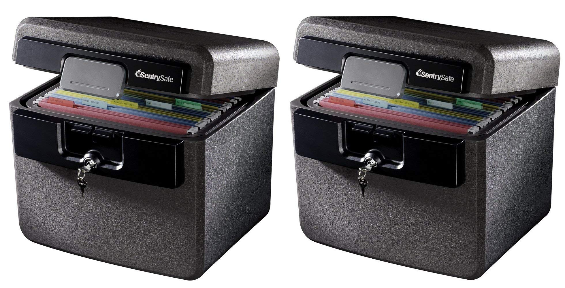 SentrySafe HD4100 Fireproof Safe and Waterproof Safe with Key Lock 0.65 Cubic Feet (Pack of 2) by SentrySafe