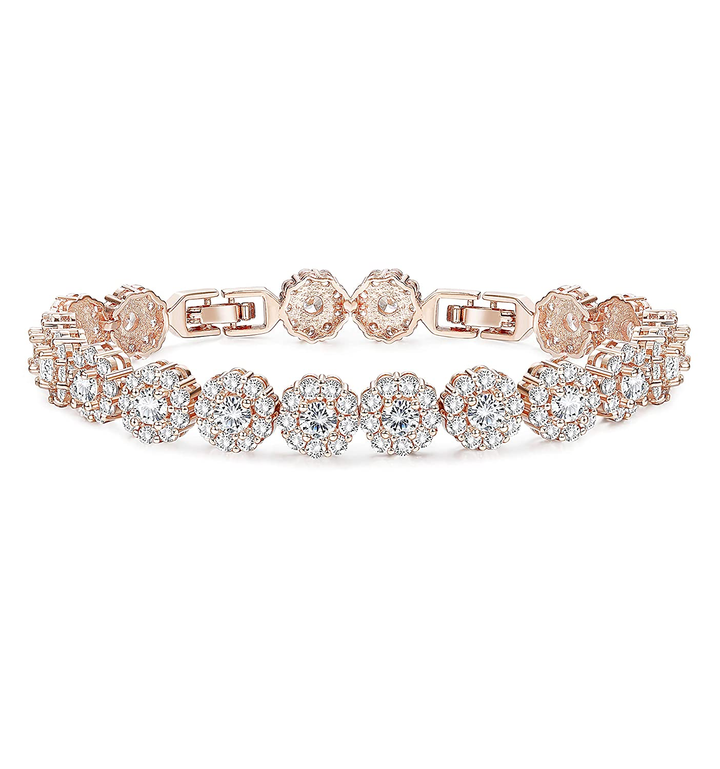 5e1dc7d22b ✦✦WEDDING EWELRY: AAA+ cut cubic zirconia inlay,sparkle and shiny,Ideal for  Wedding. Beautiful bracelet with sparkling stones in gorgeous rose gold ...