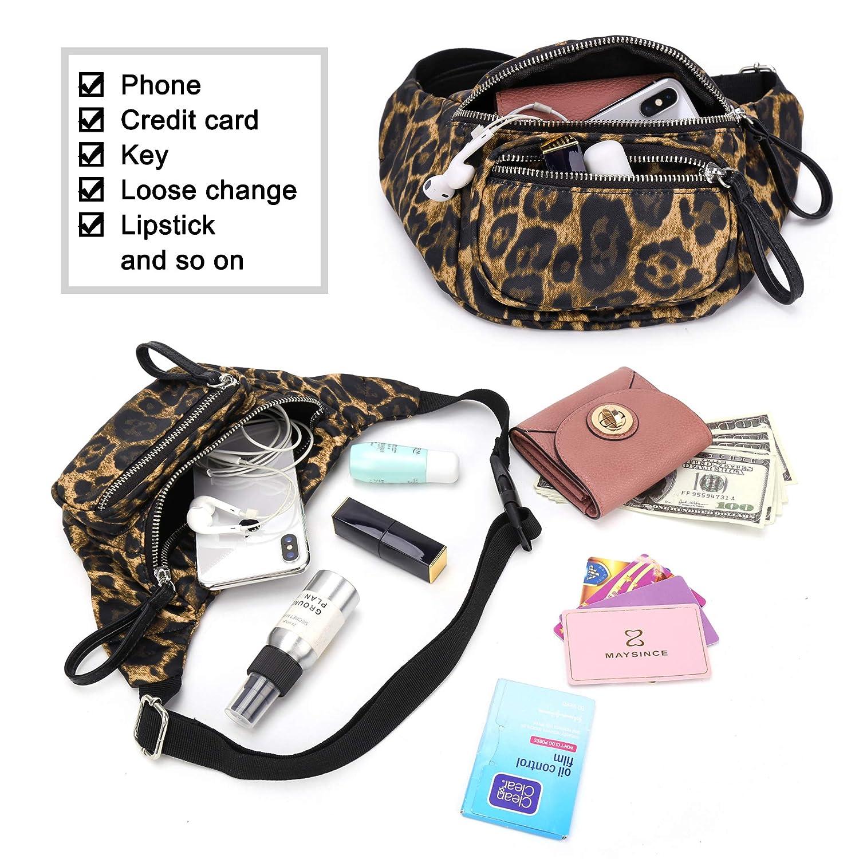 GLADDON Leopard Waist Pack for women Fanny Pack Small Travel Crossbody Bag Fashion Purse