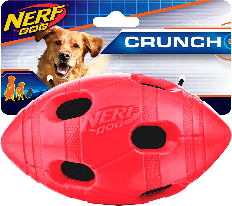 Nerf Dog 6in TPR Bash Crunch Football