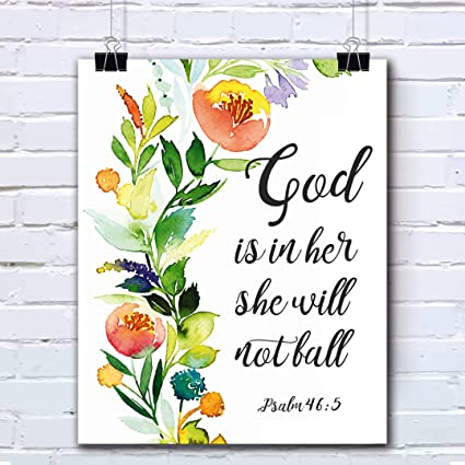 Amazon.com: Bible Verses Wall Art Decor Quotes Printed ...