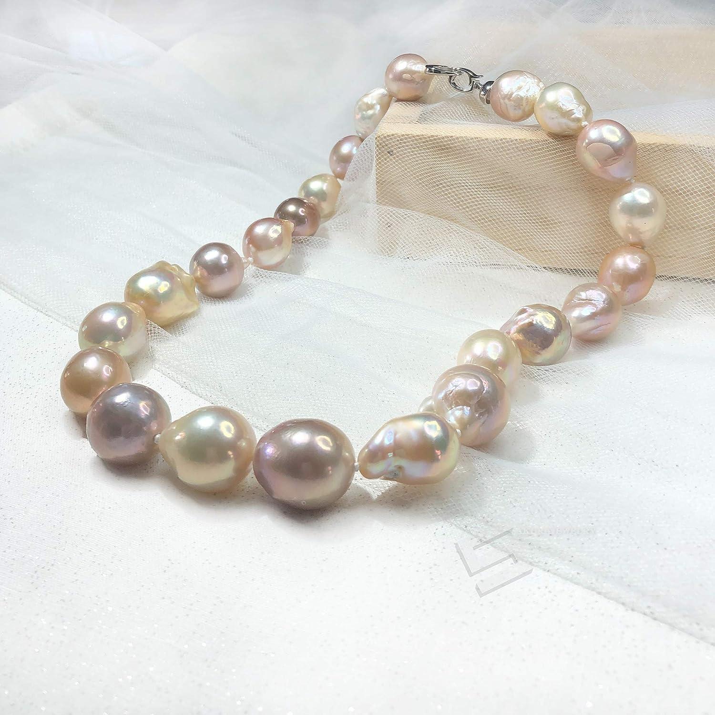 Purple Baroque Long Pearl Neckalce