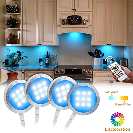 Under Cabinet Lighting Kit Bason Color Changing Puck Lights