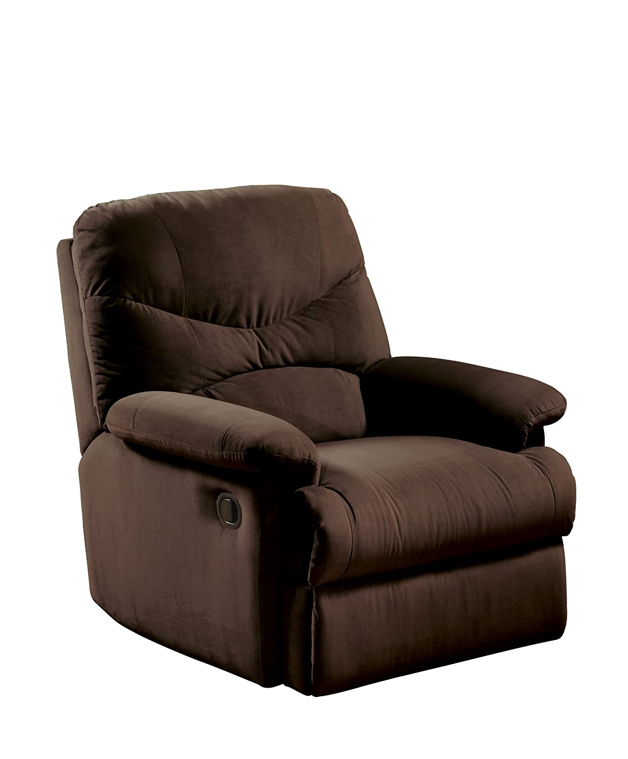ACME 00632 Arcadia Recliner  Oakwood Chocolate Microfiber. Amazon com  Chairs   Living Room Furniture  Home  amp  Kitchen