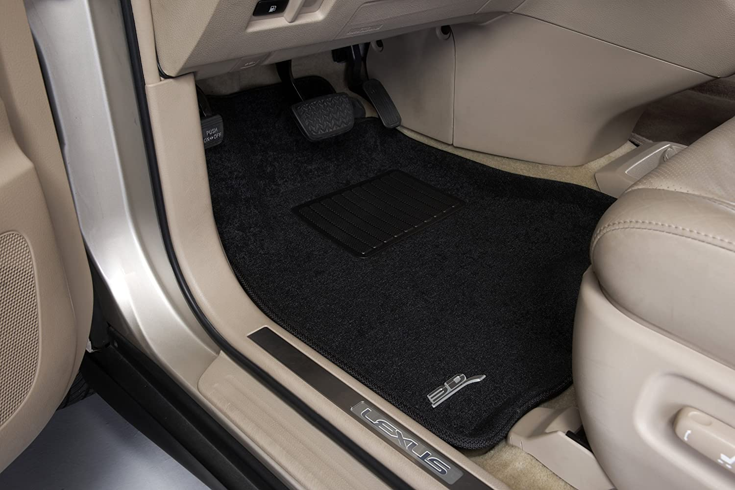 Tan 3D MAXpider Second Row Custom Fit Floor Mat for Select Mercedes-Benz S-Class Models L1MB00622202 Classic Carpet