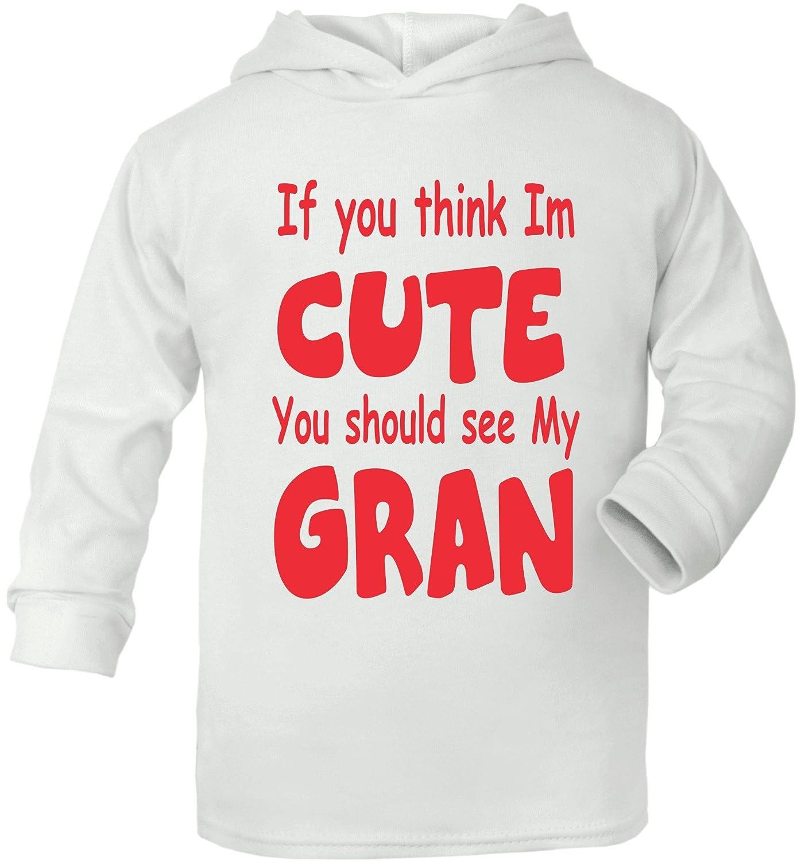 Print4u Think Im Cute See My Gran Supersoft Baby Hoodie