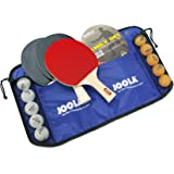 JOOLA Family Premium Table Tennis Bundle Set - 4 Regulation Ping Pong Paddles, 10 Training 40mm Ping Pong Balls, and Carrying Case - For Training and Recreational Play - Indoor and Outdoor Compatible