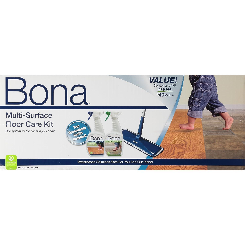 Amazoncom Bona MultiSurface Floor Care Kit Home Kitchen - Is bona good for laminate wood floors