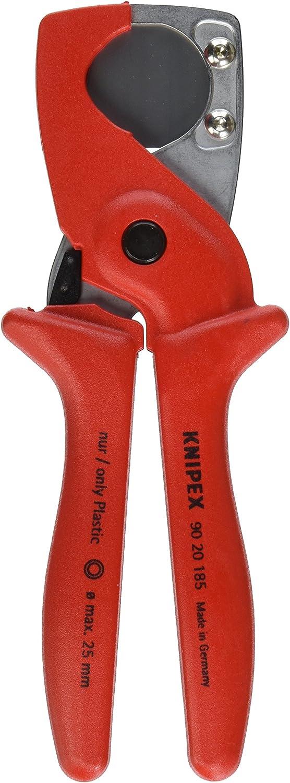 KNIPEX 90 20 185 SB Coupe-tubes pour tubes flexibles et gaines de protection en plastique renforc/é de fibres de verre 185 mm