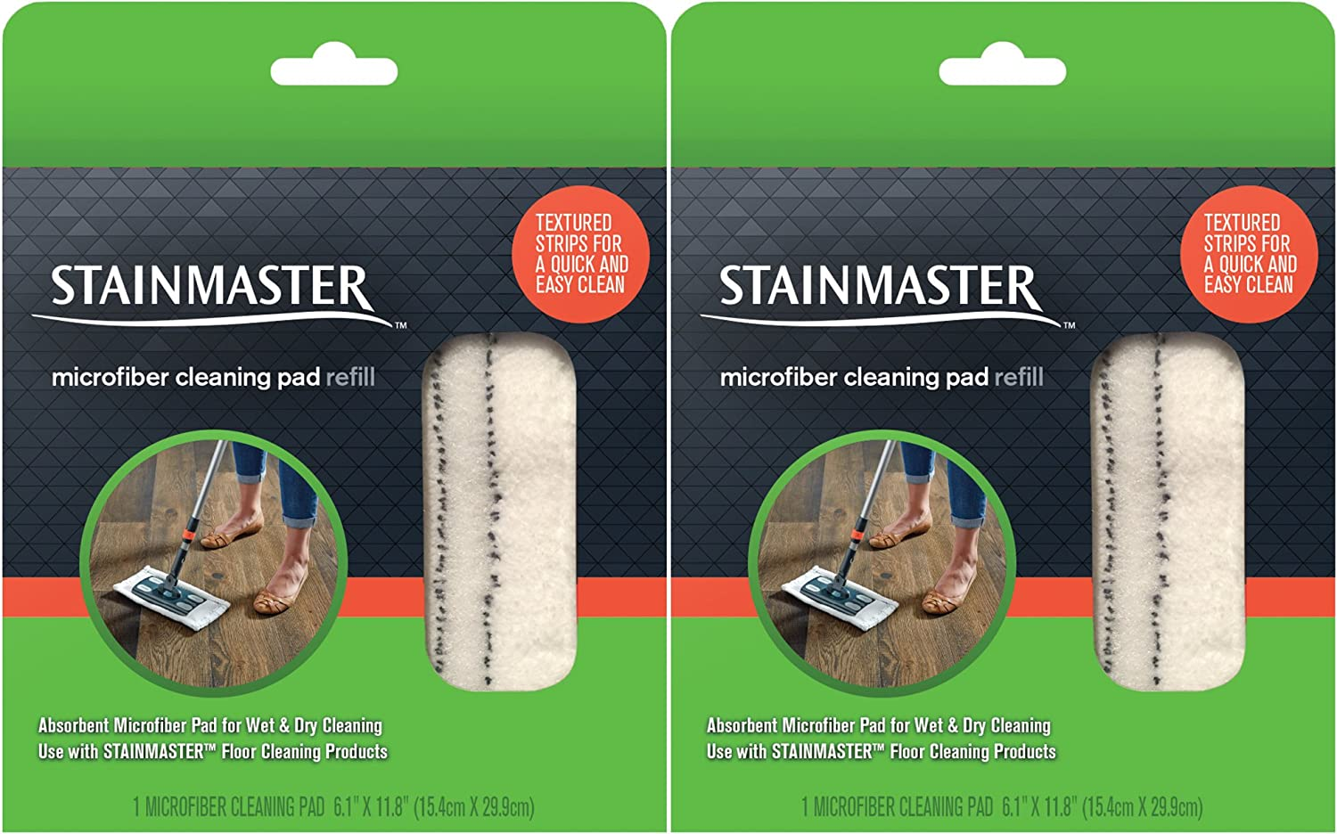 Stainmaster Microfiber Cleaning Pad Replacement, 2 Count